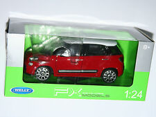 Welly - FIAT 500L (2013) Red /White Roof - Die Cast Model - Scale 1:24
