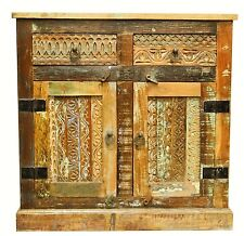 Reclaimed Timber Carved Country Sideboard Cabinet Vanity Industrial Multi Color
