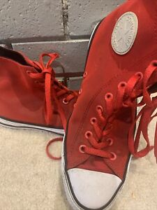 red converse high tops Mens Size 9 1/2
