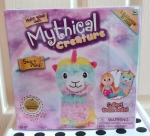 Stuff,Sew,Play-Make Your Own Mythical LLAMACORN wth Birth Certificate NEW