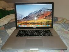 "MacBook Pro 15.4"" A1286  Core i7 2.66 GHZ , 2010, 4GB, 500 HDD ,MACOS high siera"
