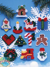 Plastic Canvas Kit ~ Design Works 12 Country Style Christmas Ornaments #DW1221