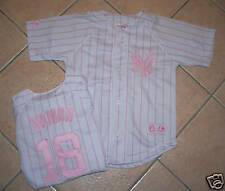 MAJESTIC NEW YORK YANKEES DAMON JERSEY YOUTH M PINK