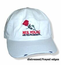 NEIL YOUNG ARE YOU PASSIONATE? ROSE WHITE BASEBALL HAT CAP NEW OFFICIAL
