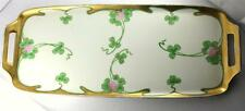 Art Deco Hand Painted EW Donath Porcelain Pink Clover Tray Uno Favorite Bavaria
