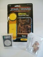 Paploo 1984 Kenner Ewok Star Wars POTF AFA 85 loose w/ collector coin Free S/H!