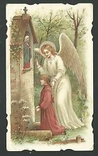 Estampa antigua del Angel Custodio andachtsbild santino holy card santini