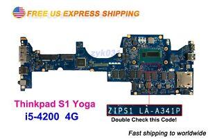 Lenovo Thinkpad S1 yoga Laptop ZIPS1 LA-A341P i5-4200 4G S1 Motherboard