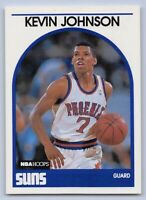 "1989-90  KEVIN JOHNSON - Hoops Basketball ""ROOKIE"" Card # 35 - PHOENIX SUNS"