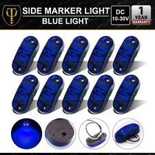 10 Pcs 2 LED Superflux Fender Side Marker Light Blue Truck Caravan Boat Trailer