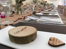 Registro in legno naturale FETTE personalizzato WEDDING TAVOLO IN LEGNO NOME favore PROIETTILI X1