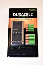 DURACELL Rechargeable Batteries 4xAA4, 4xAAA4 & Charger 1 Hour Rapid Charging