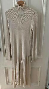 Calvin Klein 205w39NYC Raf Simons L/S Cream Knit Dress Sz. M