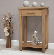 Oak Contemporary Side & End Tables with Shelves