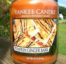 "Yankee Candle Retired ""Pumpkin Ginger Bark""~Food~Large 22oz~White Label~Rare~New"