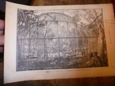 Nouvelle Volière du Jardin des Plantes Paris La Science Illustrée 1888