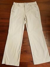 GAP Women's Light Beige Straight Wide Leg Perfect Khakis Chino Twill Pants 10