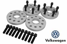 4 15 MM HubCentric Wheel Spacers 5x112 5x100 Fits Volks Wagen Black 14x1.5 Bolts