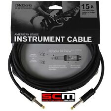 DADDARIO Planet Waves 15ft Instrument Cable American Stage Guitar Lead PWAMSG-15
