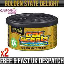 CALIFORNIA CAR SCENT GOLDEN STATE DELIGHT AIR FRESHENER HOME VAN OFFICE TAXI x 2
