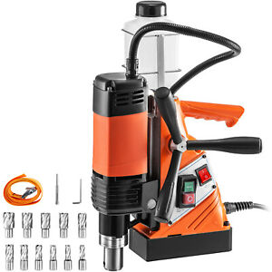 Magnetic Drill PressMagnetic Base Drill 10000 N Force 1100W 11PCS Cutter
