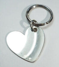 Vtg JAMES AVERY Sterling Silver KEYCHAIN Engraveable Smooth Heart 925 Retired