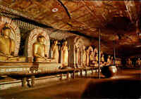 SRI LANKA (Ceylon) Postkarte Postcard Image House Cave Temple Dambulla color AK