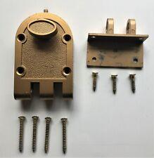 Vintage Inside Door Deadbolt, All Mounting Screws, Works Great.