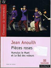 ANOUILH * Pièces roses * Humulus le Muet * Le Bal des voleurs * Théâtre * XX ème