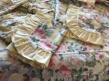 Vintage St Michael M&S Single Duvet Sheet Valance 2 Pillowcases bedding-crafts