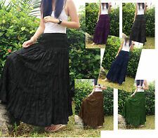 LONG BROOMSTICK SKIRT DRESS GOTH BOHO CRINKLE GYPSY BOHO HANDMADE