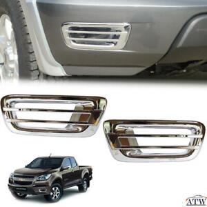 Equip 12-14 Chevrolet Colorado Holden Pair of Chrome Fog Lamp Light Cover Trim