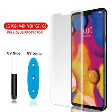 For LG V30 V40 V50 G7 Full UV Liquid Glue Tempered Glass Screen Protector Film