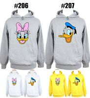 Disney Donald Duck Daisy Print Sweatshirt Mens Womens Hoodies Graphic Hoody Tops