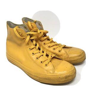 Converse Unisex Rubber Hi Top Yellow Sneakers 7 Men  / 9 Women 144747C
