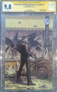 """Walking Dead Skybound 5th Anniv #1_CGC 9.8 SS_Signed Andrew Lincoln """"Rick"""" RARE"""