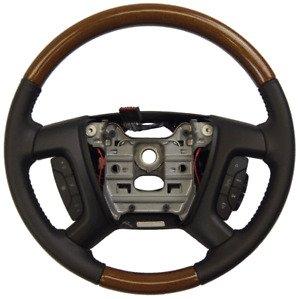 2009-2012 Buick Enclave Acadia Steering Wheel Leather Wood New 20760258 25961522