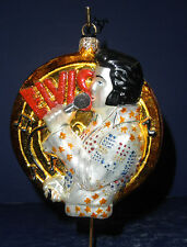Polonaise Glass Ornament: Elvis Gold Record, AP1490, New in Box