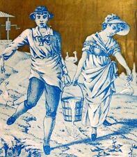 Jacob Winn Russian Store Dry Goods Boy & Girl Carrying Pail Of Water F3
