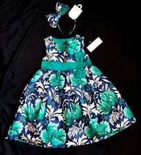 NWT Gymboree Emerald Party Floral Dress Girls 5T Holiday