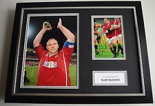 Scott Quinnell SIGNED FRAMED Photo Autograph 16x12 display Wales Rugby AFTAL COA