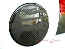 REAL GLOSSY CARBON FIBER FUEL DOOR COVER FOR 07-11 YARIS VITZ HATCHBACK XP90 JDM