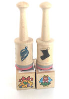 The Little Classic Rubber Stamps Christmas Stocking Bells Ornament Angel