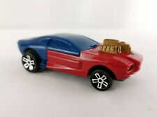 Hot Wheels Mattel 2014 UK McDonald's Happy Meal Pull Back Toy Car Red Blue