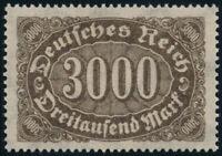 DR 1923, MiNr. 254 d, tadellos postfrisch, gepr. Bechtold, Mi. 220,-