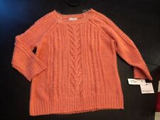 Women/'s Liz Claiborne Sweater Graphic Hot Coral Size X-Large  NEW $54