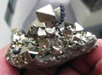 PYRITE BRILLIANT OCTAHEDRAL CRYSTALS and SPHALERITES from PERU....GORGEOUS PIECE