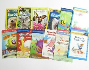 Childrens Leveled Readers Book Lot of 12 Paperback Elementary Reading