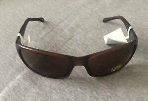 *RARE* Fossil Mens FM37 Wrap Sunglasses 3550361611 BROWN Frame Lens * NWT
