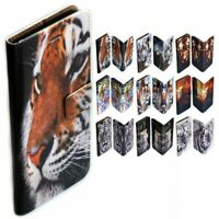 For HTC Series Case - Tiger Print Theme Wallet Mobile Phone Case Cover